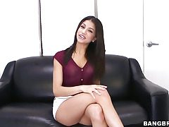 Veronica Rodriguez pleasures herself with a fake penis