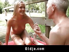 Monica Thu is blonde, youthful and nosey and he is an oldman with experience and over all a guru. The brilliant peer for an oldyoung plow skills exchange. Long pussy tonguing and intense cocksucking occur