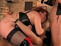 Big-boobed Stepmom Thirsty For Stepson and His Frie