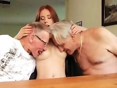 Baby sitter threesome caught masterbating Minnie Manga slurps b