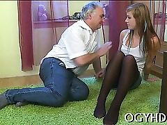 Young angel loves gonzo insertion of old hard shlong