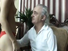 Amputee Old Guy Gets Lucky With Blonde Teen