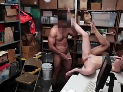 Shoplyfter- Teen Thieves Suck Man meat and Get Pulverized