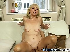 Platinum-blonde gilf jizz sprayed