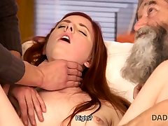 DADDY4K. Dirty boy thumbs GF for hotwife on him with...