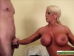 Huge-titted mom wants sperm from the young cock