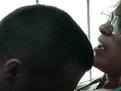 Cougar LETS INMATE Jizm INSIDE HER WEEKLY TO Relax HIS Strain