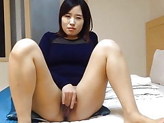 Super-cute Korean wife's dirty masturbation and hook-up