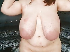 Large BBW Teen with ample tits