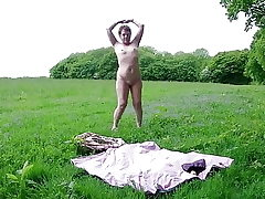 Solo Outdoor Strip & Frolicking Myself To Climax