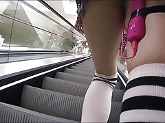 Girl Have fun Vibrator In Public and Uber Getting off