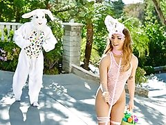 Mini Easter Bunny Babe Gets Rammed